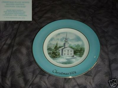 Avon by Wedgwood 1974 Country Church Collector Plate