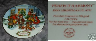 Avon Perfect Harmony 1991 Collector Plate