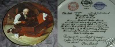 Knowles Collector Plate Grandpa's Gift 1987