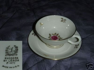 Lenox Rhodora 1 Cup and Saucer Set
