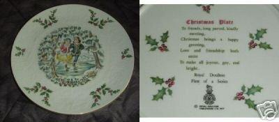 Royal Doulton 1977 Christmas Collector Plate