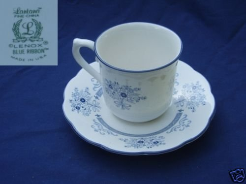 Lenox Blue Ribbon 2 Cup and Saucer Sets