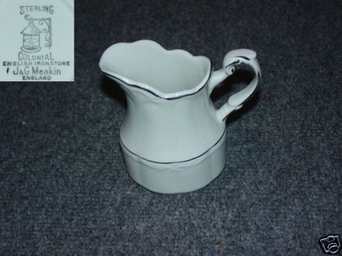 J and G Meakin Silver Baroque 1 Cream Pitcher Creamer