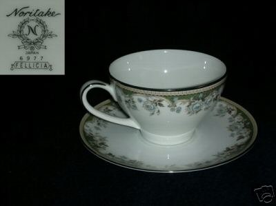 Noritake Fellicia 2 Cup and Saucer Sets