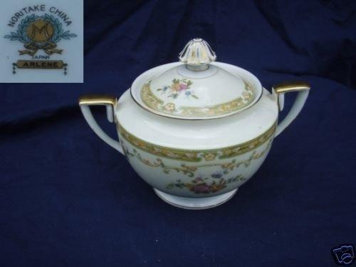 Noritake Arlene 1 Sugar Dish ( Bowl ) with Lid
