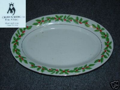 Crown Ming Holly 1 Oval Serving Platter