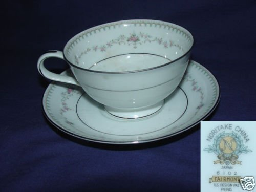 Noritake Fairmont 4 Cup and Saucer Sets