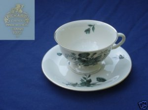 Pickard Diana - Green 4 Cup and Saucer Sets