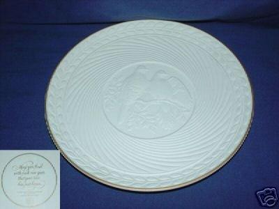 Avon Love Birds Bisque Collector Plate