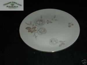 Johann Haviland Dawn Rose 4 Dinner Plates