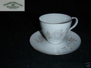 Johann Haviland Dawn Rose 4 Cup and Saucer Sets