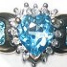 Womens Diamond Topaz Ring