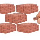 500 Real Mini Red Bricks - Premium Quality - 1/12 Scale, Perfect for Dioramas