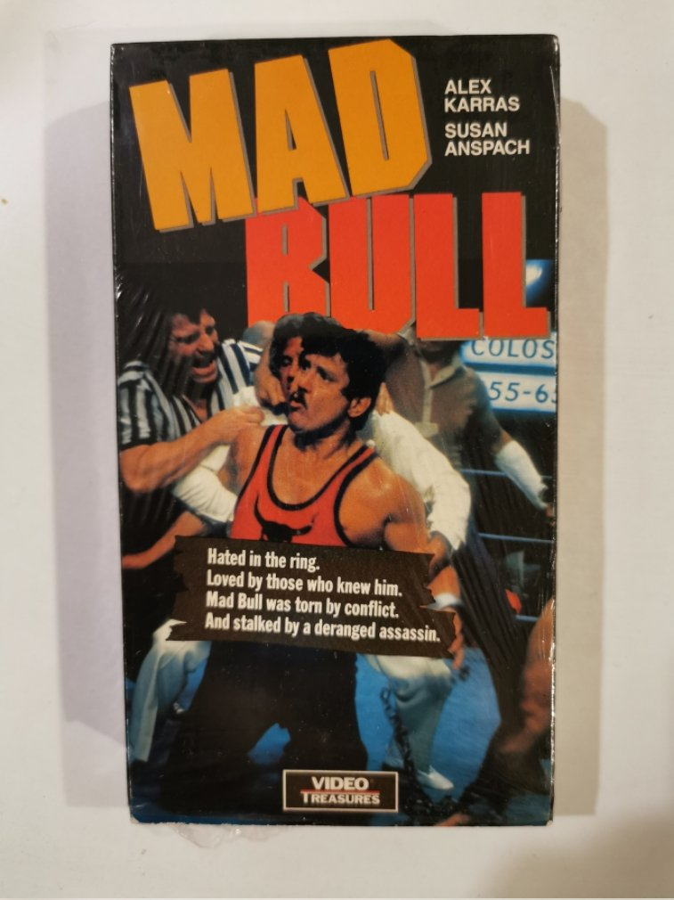 VHS - Mad Bull (Alex Karras) - Used - NOT ON DVD