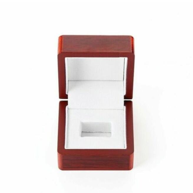 1 Hole Wooden Display Box for Super Bowl World Series Stanley Cup Championship Ring
