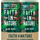 Faith in Nature Aloe Vera Shampoo 400ml & Conditioner 400 ml (Packaging May Vary)