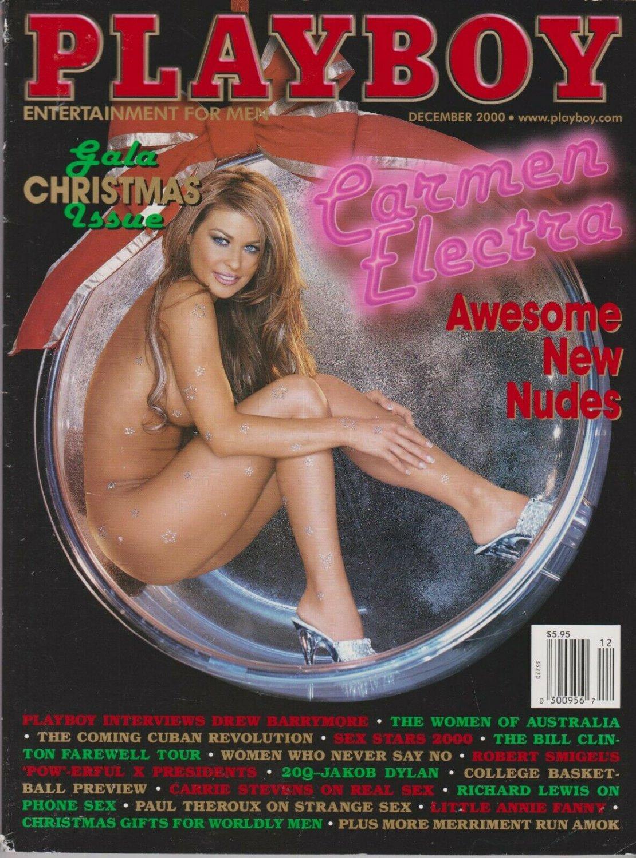PLAYBOY DECEMBER  2000-A - CARA MICHELLE - CARMEN ELECTRA NUDE