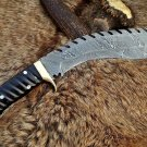 Unique Hand Forged Amazing Damascus Steel Kukri With Sheath In Free shipping to United States