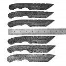 Hand Forged Lot of 6 Damascus Steel Blank Blade For Knives Making Free Shipping to United States