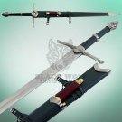 Aragorn Strider Ranger Sword knife Green Leather Handle with Scabbard