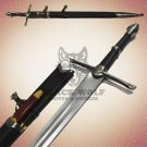 Aragorn Strider Ranger Sword knife Black Leather Handle with Scabbard
