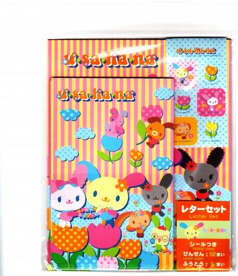 Japan Sanrio Usahana Letter Set with Stickers