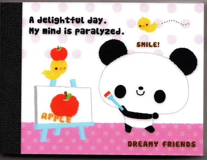 Japan Kamio Dreamy Friends Panda Mini Memo Pad