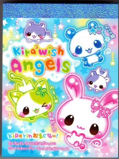 Japan Q-Lia Kira Kira Wish Angels Mini Memo Pad