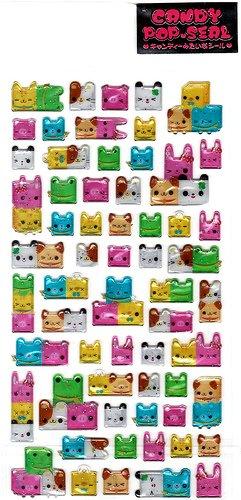 Kamio Japan Animal Cube Friends Sticker Sheet