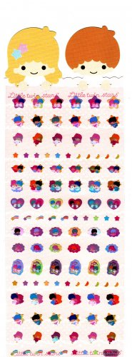 Japan Sanrio Little Twin Stars Sticker Sheet and Bookmark