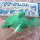 Japan Iwako Sea Animals Collection Dolphin 3D Eraser (Green)