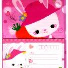 Japan Happy Smile Bunny Rabbit  Letter Set in Folder Kawaii