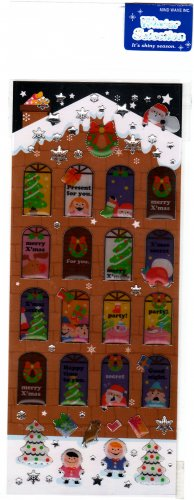 Mind Wave Japan Winter Selection Christmas Epoxy Sticker Sheet Kawaii