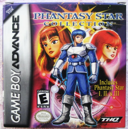 Game Boy Advance GBA Phantasy Star Collection Phantasy Star I, II, and III RPG Video Game by THQ