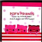 Kamio Japan Pop'n Friends Pigs Mini Memo Pad Kawaii