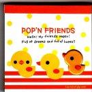 Kamio Japan Pop'n Friends Ducks Mini Memo Pad Kawaii