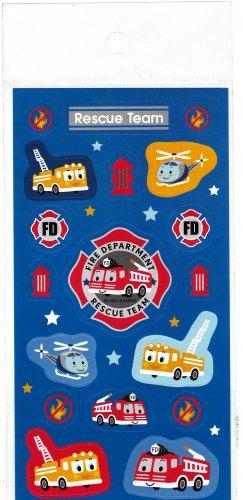Sanrio Japan Fire Department Rescue Team Sticker Sheet 2004 Rare Kawaii