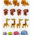 Ark Road Japan Zoo Animals Sticker Sheet Kawaii