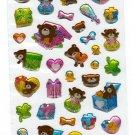 Cubix Japan Bear Presents Sticker Sheet Kawaii