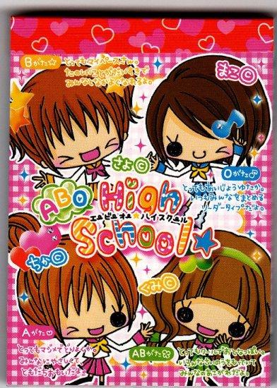 Crux Japan High School Girls Mini Memo Pad Kawaii