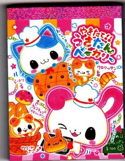 Kamio Japan Rabbit Bakery Mini Memo Pad Kawaii