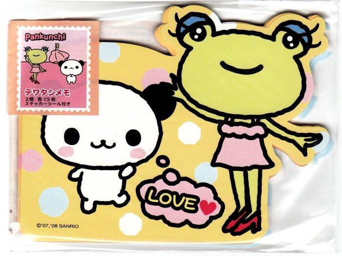 Sanrio Japan Pankunchi Diecut Memo Sheet Set Kawaii