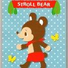Daiso Japan Stroll Bear Memo Pad Kawaii