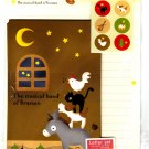 Daiso Japan The Musical Band of Bremen Letter Set with Stickers Kawaii