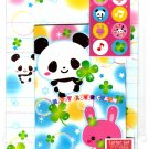 Daiso Japan Happy Clover Charm Letter Set with Stickers Kawaii