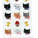 Ark Road Japan Cat Faces Sticker Sheet Kawaii