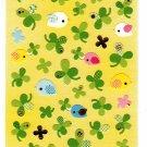 Q-Lia Japan Washi Paper Birds and Clover Sticker Sheet Kawaii