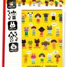 Kamio Japan Wonderful Friends Letter Set with Stickers Kawaii
