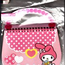 Sanrio Japan My Melody Bag-Shaped Spiral Notebook with Stickers Kawaii