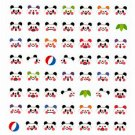 Kamio Japan Panda Faces Sticker Sheet Kawaii